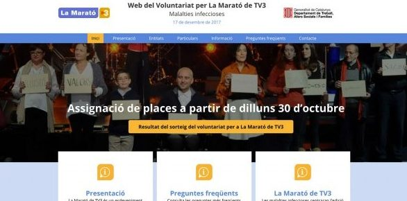 "Voluntariado en ""La Marató de TV3"""