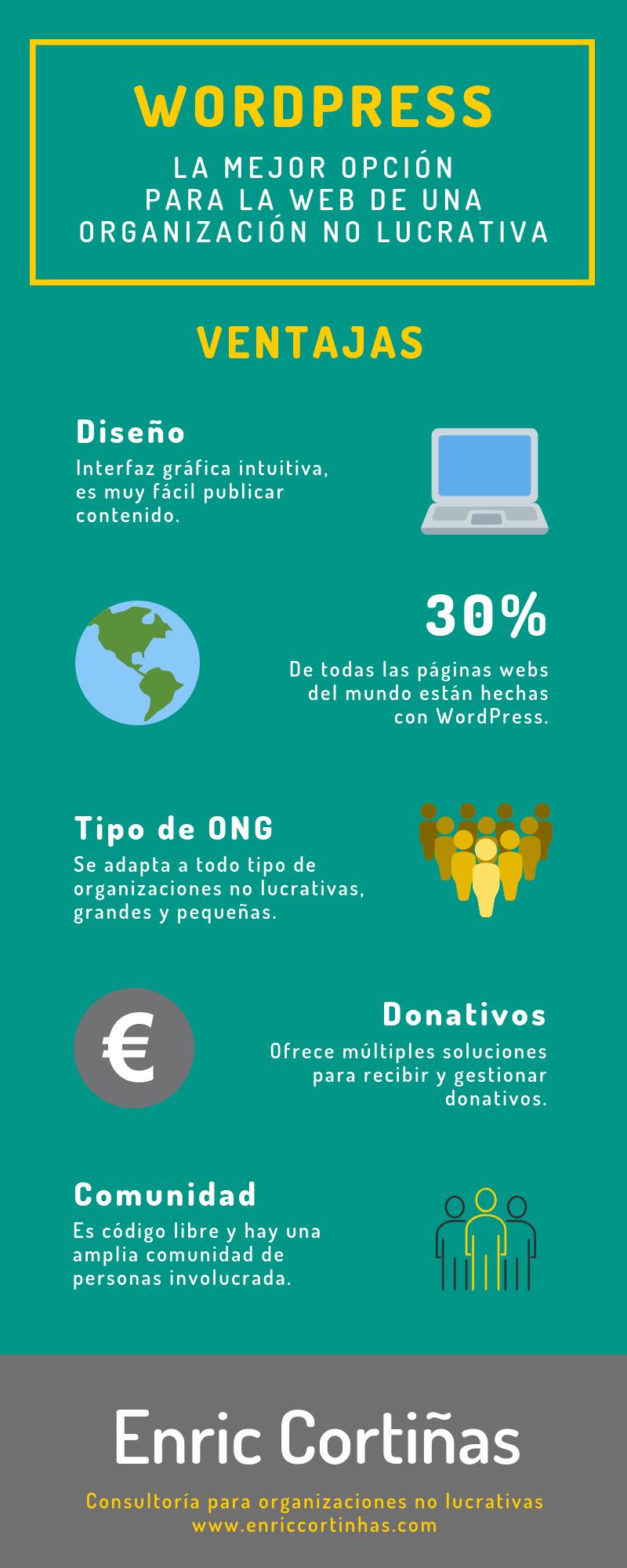 Infografía WordPress para ONG