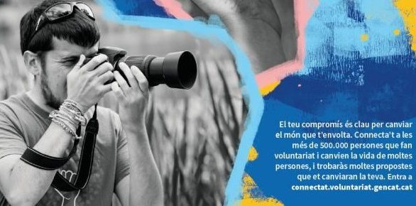 """Campaña de sensibilización y fomento del voluntariado """"Connecta't al voluntariat, l'acció que torna"""""""